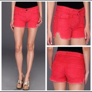 Free People | Hot Pink Cut Off Shorts